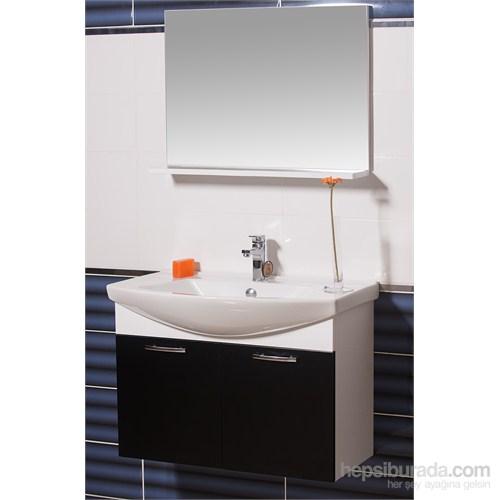 Ilgaz 80 Cm Banyo Dolabı Siyah