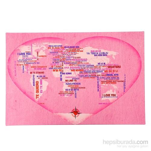 Arte Dünyada Aşk Kanvas Tablo 60X40