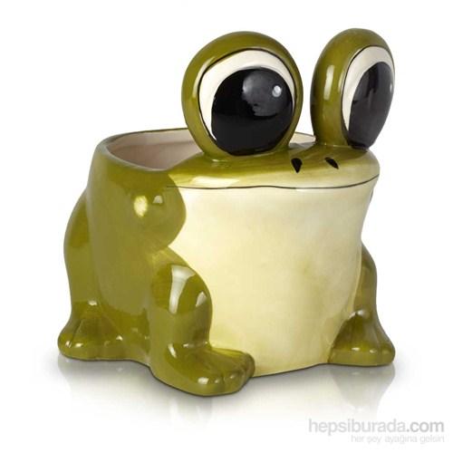 Seramik Kurbağa Saksı 9Cm