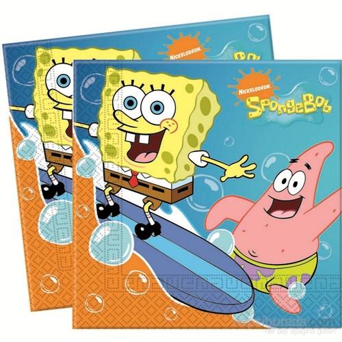 Sponge Bob Surfıng Kağıt Peçete 33X33cm (20 Ad)
