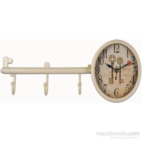 Anahtar Formunda Askılı Metal Duvar Saati