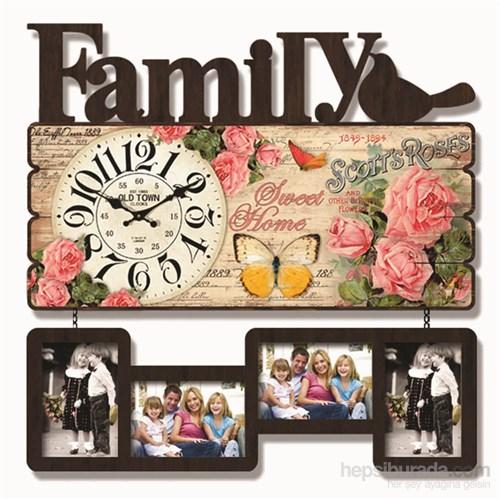 Family Mdf Çerçeveli Duvar Saati