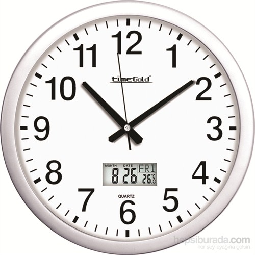 İşyeri Dijitalli Metalize Duvar Saati