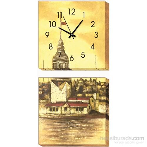 Kız Kulesi Kanvas Tablo Duvar Saati