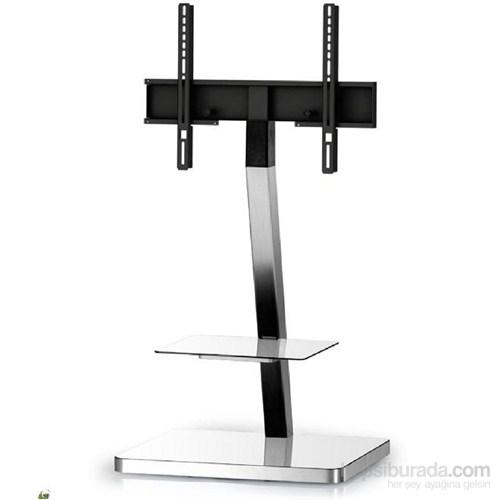 Sonorous Pl 2710-Wht-Slv Gri Alüminyum, Beyaz Taban Tv Sehpası