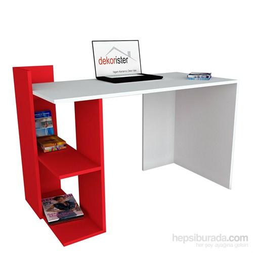 Dekorister Arrival Çalışma Masası Beyaz/Kırmızı