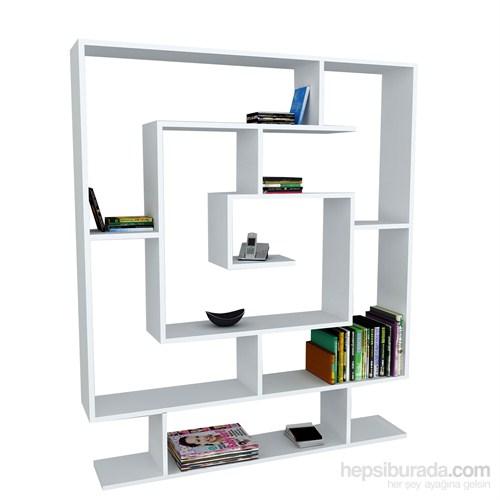 Dekorister Sarmaşık Kitaplık Beyaz
