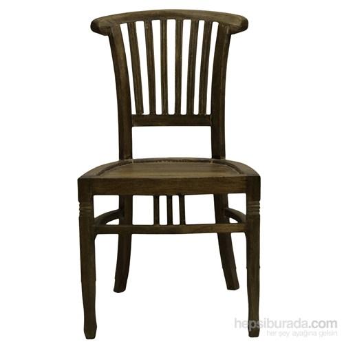 Beautıful Grey Wash Kolçaksız Sandalye