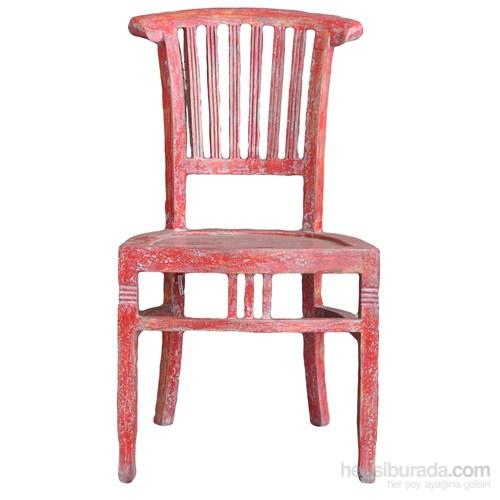Beautıful Kırmızı Kolçaksız Sandalye