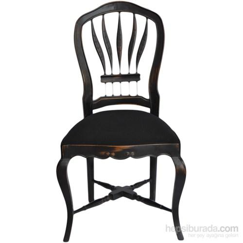 Wheatback Siyah Sandalye