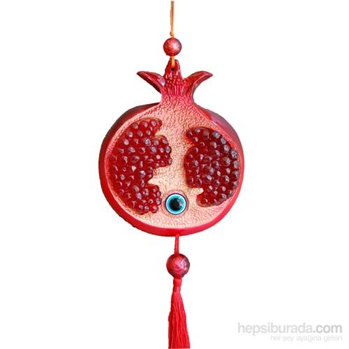 Kırmızı Renkli Askılı Nar Nazarlık Set