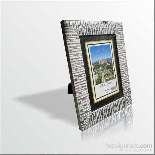 10x15 cm Gümüş Cam Muhafazalı Çerçeve