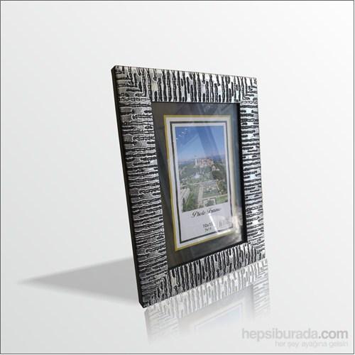 10x15 cm Gümüş Desenli Camlı Çerçeve