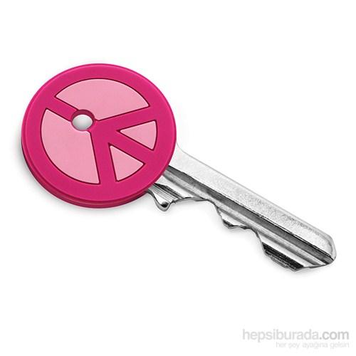 Savaşa Hayır Anahtar Kabı Pembe