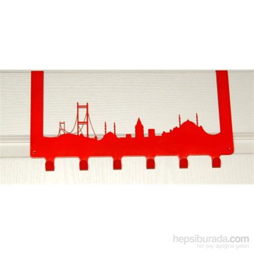Amerikan Kapı Askısı İstanbul Kırmızı