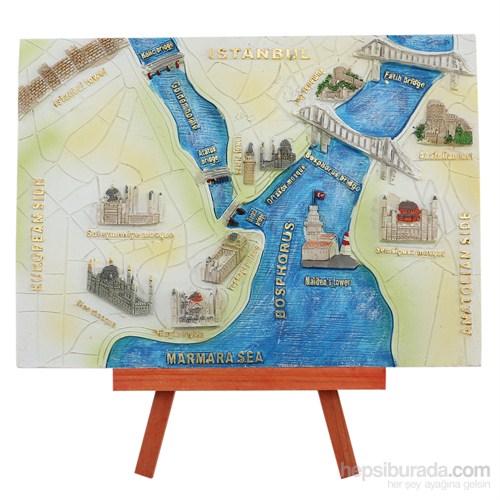 Ayaklı İstanbul Haritası Maketi