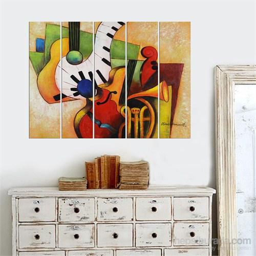 Dekorjinal 5 Parçalı Dekoratif Tablo Vsrm037