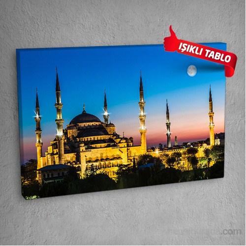 Sultanahmet Camii Led Işıklı Kanvas Tablo 50X70 Cm