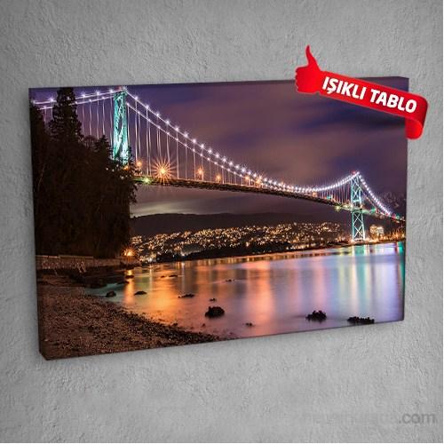 Lions Gate Köprüsü Led Işıklı Kanvas Tablo 50X70 Cm