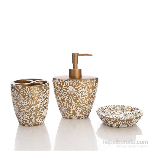 Bosphorus Altın Örgü Banyo Set 3'lü