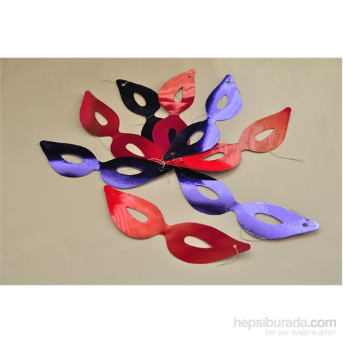 Trio Metalize Maske 6 Adet