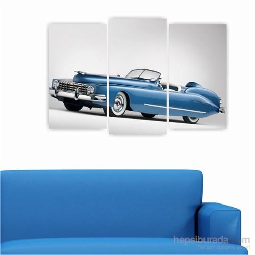 Dekoriza Mercury Bob Klasik Araba 3 Parçalı Kanvas Tablo 80X50cm