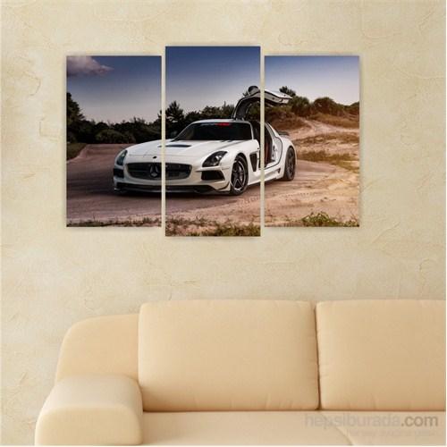Dekoriza Mercedes Sls Spor Araba 3 Parçalı Kanvas Tablo 80X50cm