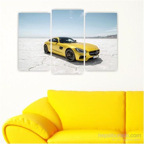 Dekoriza Mercedes Spor Araba 3 Parçalı Kanvas Tablo 80X50cm