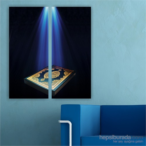 Dekoriza Kuran-I Kerim 2 Parçalı Kanvas Tablo 62X70cm