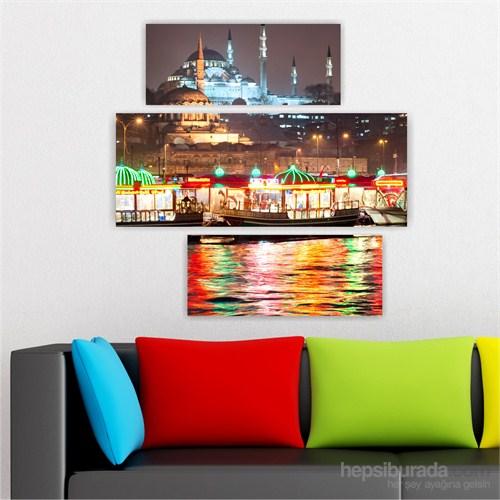 Dekoriza İstanbul Manzarası 3 Parçalı Kanvas Tablo 90X90cm
