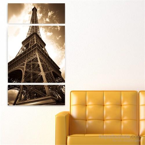 Dekoriza Paris Eyfel Kulesi 3 Parçalı Kanvas Tablo 70X125cm