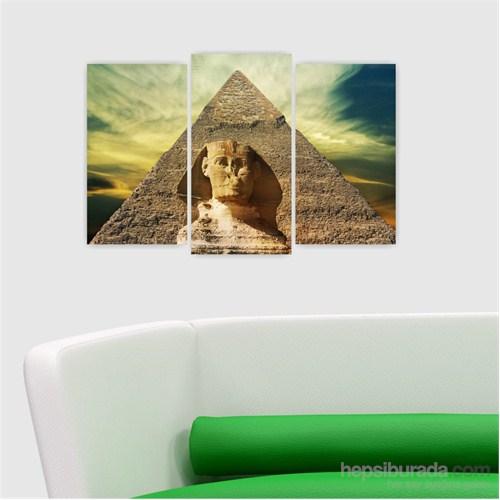 Dekoriza Mısır 3 Parçalı Kanvas Tablo 80X50cm