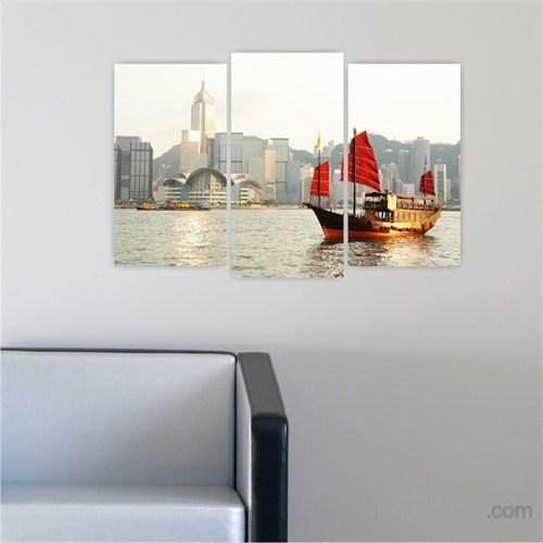 Dekoriza Hong Kong 3 Parçalı Kanvas Tablo 80X50cm