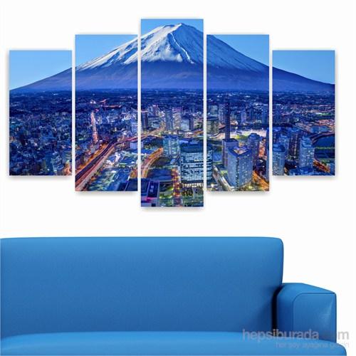 Dekoriza Japonya Fuji Dağı 5 Parçalı Kanvas Tablo 110X60cm