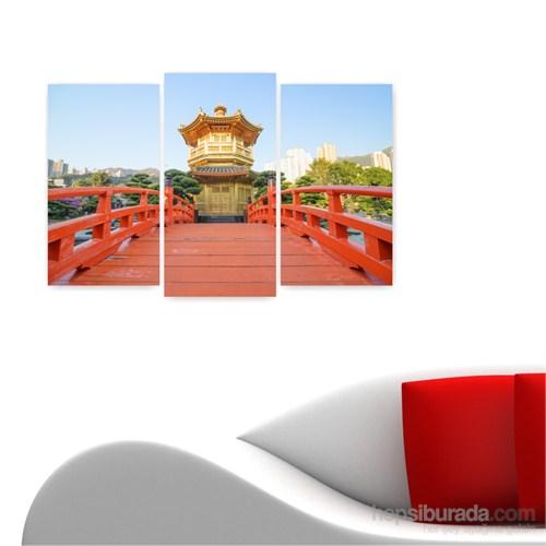 Dekoriza Japonya 3 Parçalı Kanvas Tablo 80X50cm