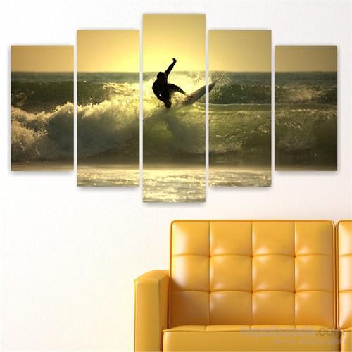 Dekoriza Sörf 5 Parçalı Kanvas Tablo 110X60cm