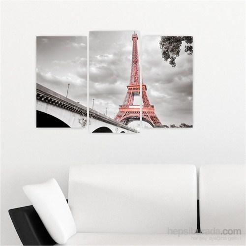 Dekoriza Siyah & Beyaz Paris Eyfel Kulesi 3 Parçalı Kanvas Tablo 80X50cm