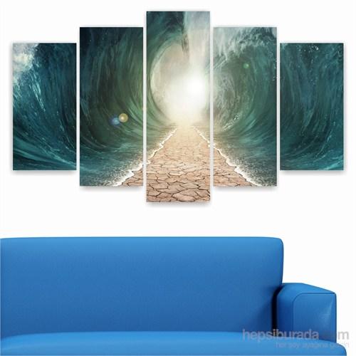 Dekoriza Denizde Yol 5 Parçalı Kanvas Tablo 110X60cm