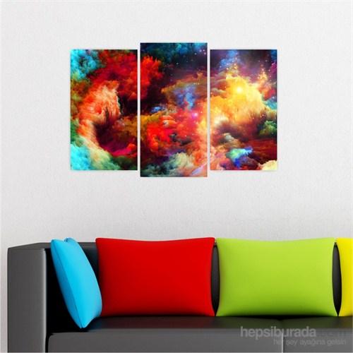 Dekoriza Soyut Renkler 3 Parçalı Kanvas Tablo 80X50cm
