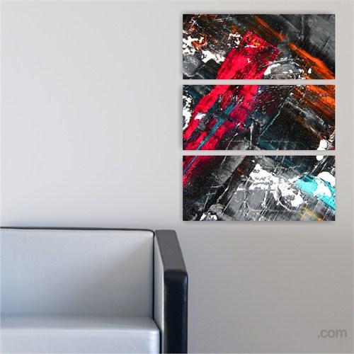 Dekoriza Soyut 3 Parçalı Kanvas Tablo 70X95cm