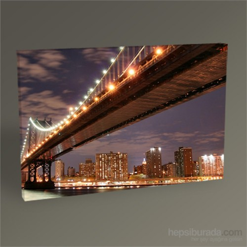 Tablo 360 Manhattan Bridge And Manhattan Skyline At Night Tablo