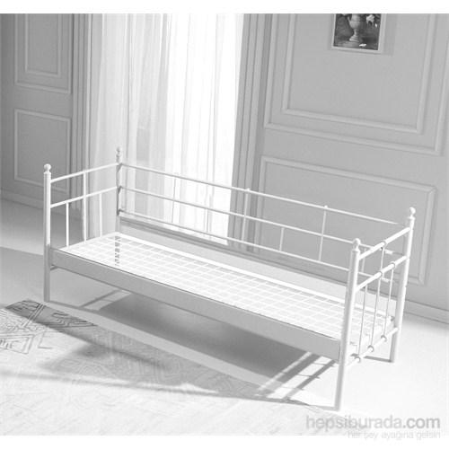 Unimet Lalas Metal Sofa 90 x 200 Beyaz (Mindersiz)