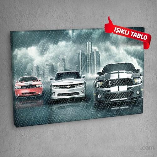 Klasik-Araba-Dm105 Led Işıklı Kanvas Tablo 50X70 Cm