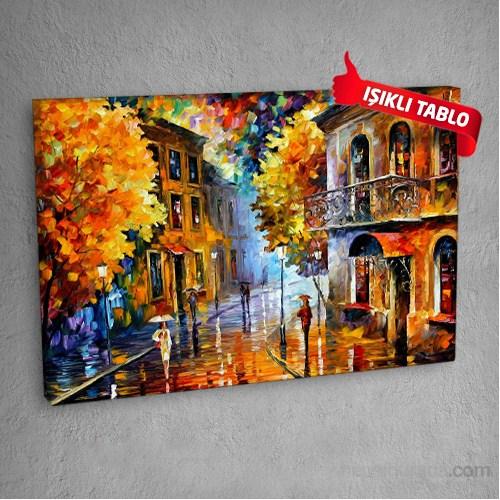 Sokak-Dm-Oıl-203 Led Işıklı Kanvas Tablo 50X70 Cm