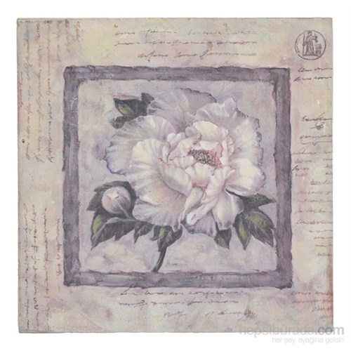 Orta Sofa Country mdf çiçek tablo