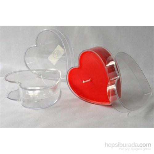 Mum Kalıbı Kalp Şeklinde Şeffaf
