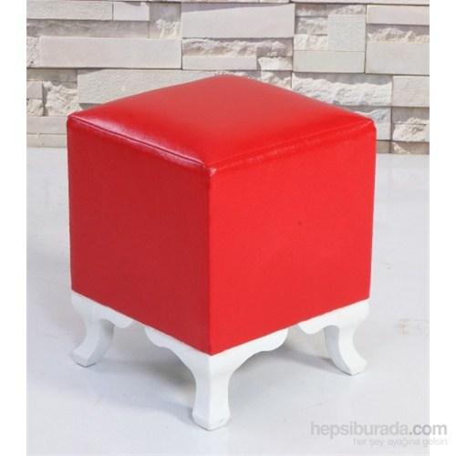 Mobline Kare Puf Kırmızı 40X45 Cm