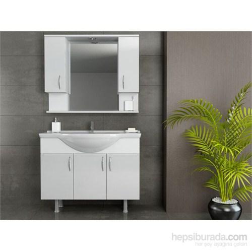 Evmanya Haus 100 cm Banyo Dolabı - Beyaz