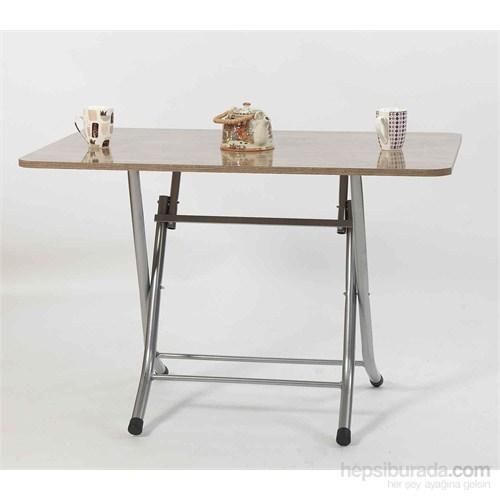 Ellnaz Yana Yatan Mutfak ve Balkon Masası Ceviz 70X110