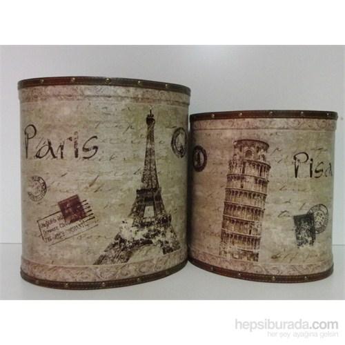 Dekoratif Kova 2'li Carte Paris Pisa